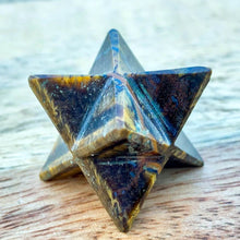 Load image into Gallery viewer, Yellow Tiger Eye Merkaba Star