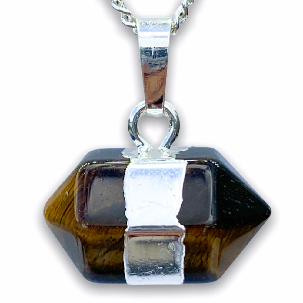 Tiger Eye Stone Pendant Handmade Crystal Necklace - Magic Crystals  - Stone Necklace
