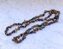 Load image into Gallery viewer, Tiger Eye Stone Genuine Gemstone Chip Necklace-NECKLACES-Magic Crystals