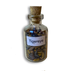 tiger eye pieces in bottles, tiger eye small glass bottle. Gemstone Crystal Bottle - Stone Bottle Set - Gemstone Chips - Tarot Gemstone Bottle, Crystal Gemstone Bottle - gemstone crystal chips. The listing is for one Crystal Bottle. Crystals included Peridot, Blue Topaz, Carnelian, Turquoise, Moonstone, Rose Quartz, Tigers Eye, Quartz, Amethyst, Aventurine, Garnet, Citrine.