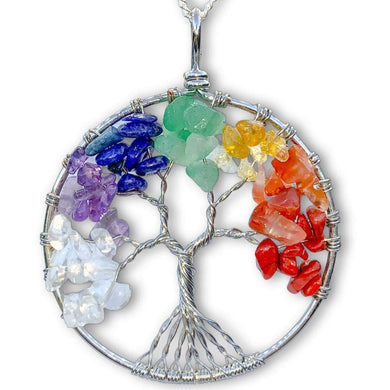 Check out our Tree of Life 7 Chakra Jewelry Wire Pendant Necklace when you shop at Magic Crystals. This beautiful 7 chakra necklace will help activate your Chakras to bring balance and energy into your life. Find the best seven chakra stones jewelry. FREE SHIPPING available. Chakra stones necklace for balance.