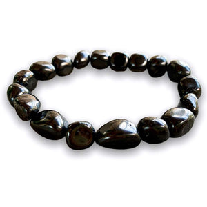 Looking for a Unique Shungite bracelet? Find Shungite Bracele, Polished Shungite, EMF Protection, Shungite Jewelry handmade crystal when you shop at Magic Crystals. Shop genuine shungite bracelet. Women and Mens shungite bracelets with FREE SHIPPING AVAILABLE.  - MagicCrystals.com - Tumbled Bracelet