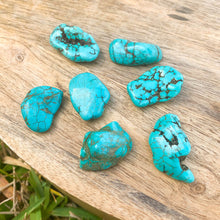 Load image into Gallery viewer, Looking for genuine turquoise tumbled stones? Shop at Magic Crystals for Healing crystal and stone, turquoise necklace, turquoise. Natural Turquoise. Jewelry, raw turquoise, and more. FREE SHIPPING avalailble. healing crystals and stones - throat chakra