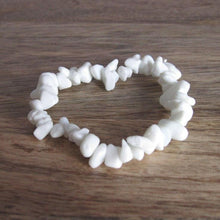 Load image into Gallery viewer, White Jade Gemstone Raw Bracelet Stone - Jade Jewelry - Magic Crystals