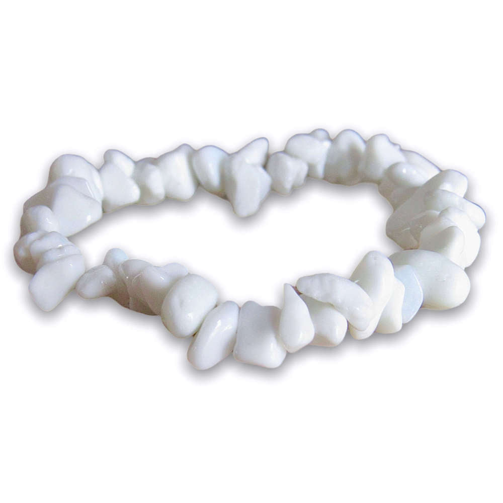 White Jade Gemstone Raw Bracelet Stone - Jade Jewelry - Magic Crystals