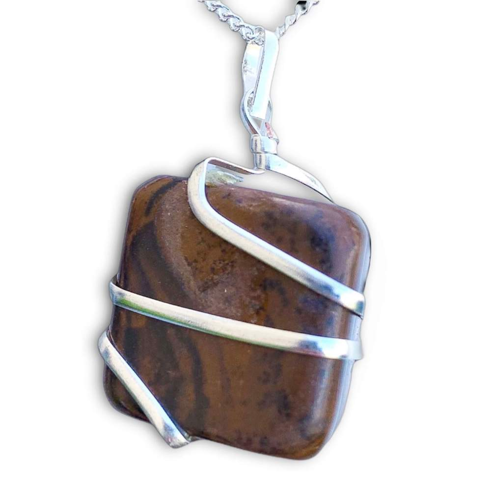 Sterling silver necklace with pendant tiger eye black onyx silver necklace tiger eye pendant NKL104