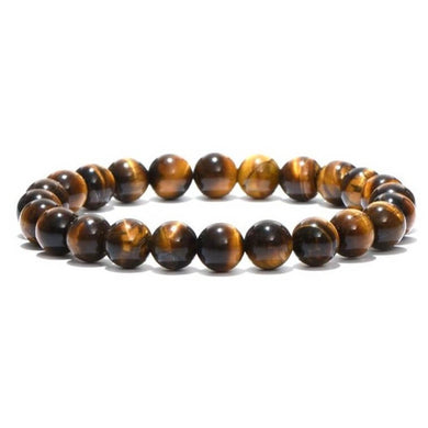 Yellow Tiger Eye Natural Bead Gemstone Bracelet - Magic Crystals