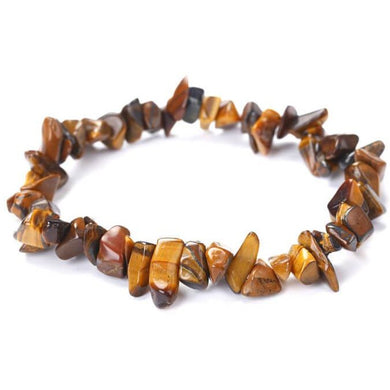Yellow Tiger Eye Raw Bracelet - Tiger Eye Jewelry - Magic Crystals