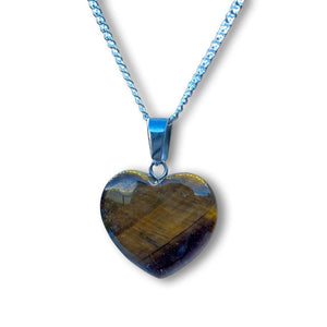 Looking for the best selection of tigers eye necklace? Well you're in luck, because here they come. Shop genuine Yellow Tiger Eye Stone Heart Necklace and Pendant made from natural gemstones. Tigers Eye Necklaces : Free Shipping. Whatever its style, the tiger eye necklace is always beautiful. Heart pendants & necklaces