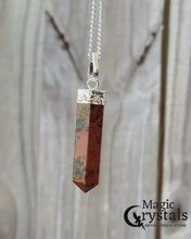 Load and play video in Gallery viewer, Mahogany Obsidian Stone Handmade Healing Crystal Necklace