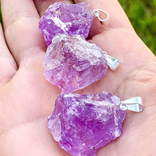 Load image into Gallery viewer, Raw Amethyst Pendant Necklace - Amethyst Jewelry - Magic Crystals