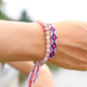 Rose Quartz Mala and Beads Bracelet-Bracelets-Magic Crystals