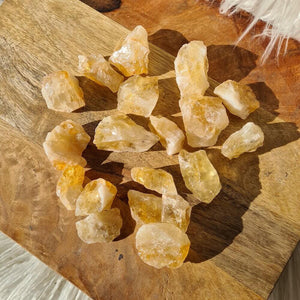 Check out our Citrine Stone Crystal Chunks - Raw Citrine Chunks when you shop at Magic Crystals. Small Citrine Point 1-2 inches long. Healing Crystal, Metaphysical Healing, Chakra Stone. What is Citrine? Citrine is a mineral, member of the Quartz family.