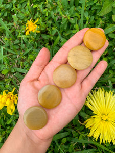 Golden Healer Quartz Disc Stone-Disc Stones-Magic Crystals