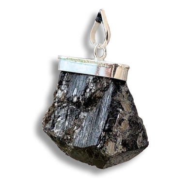 Black Tourmaline Raw Pendant-Pendants-Magic Crystals