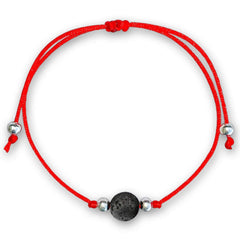 Lava Stone Red String Protection Bracelet