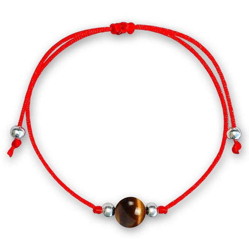TIGER EYE RED STRING BRACELET. Check out our protection selection for the best in unique or custom, handmade tiger eye pieces from our red string bracelets collection.Tiger eye is a stone of courage. Great gift for protection for sisters. Friendship Bracelets, Red Bracelets for couples. Red Rope Bracelets. ojo de tigre