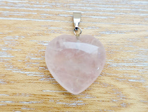 Unconditional Love Heart Pendant | Rose Quartz Stone-Heart Pendants-Magic CrystalsLooking for metaphysical facts about rose quartz necklace? Well you're in luck, because here they come. Shop for the best quality semi precious rose quartz stone heart necklaces and pendants in magic crystals. Cuarzo Rosa en forma de corazon. FREE SHIPPING available. Heart Chakra.