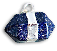 Load image into Gallery viewer, Blue Goldstone Stone Pendant Handmade Crystal Necklace, Magic Crystals  - Stone Necklace