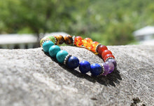 Load image into Gallery viewer, 7 Chakra Stone Handmade Bead Bracelet-Bracelets-Magic Crystals