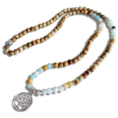 Picture Jasper Mala Necklace | 108 Beads | 6mm beads| Picture Jasper-Mala Necklaces-Magic Crystals
