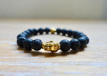Load image into Gallery viewer, Lava Stone Buddha Bracelet-Bracelets-Magic Crystals
