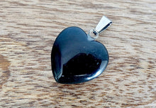 Load image into Gallery viewer, Black obsidian stone necklace selection for the very best in unique, handmade pieces. Black Obsidian Pendant Necklace, Obsidian Stone Hexagon Point Wrapped Necklace for Men, Obsidian Healing Crystal Necklace for Women.  Black Obsidian Stone Necklace is made of natural volcanic glass that has powerful healing properties