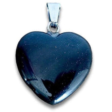 Load image into Gallery viewer, Black Obsidian Heart Pendant-Heart Pendants-Magic CrystalsBlack obsidian stone necklace selection for the very best in unique, handmade pieces. Black Obsidian Pendant Necklace, Obsidian Stone Hexagon Point Wrapped Necklace for Men, Obsidian Healing Crystal Necklace for Women.  Black Obsidian Stone Necklace is made of natural volcanic glass that has powerful healing properties