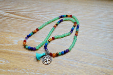 Load image into Gallery viewer, Creativity Mala Necklace | Green Aventurine Stone | 7 Chakra Gemstone-Mala Necklaces-Magic Crystals
