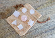Load image into Gallery viewer, Rose Quartz Stone Quartz Sacred Geometry 7 pcs Set-Sacred Geometry-Magic Crystals