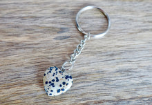 Load image into Gallery viewer, Dalmatian Jasper Stone Handmade Heart Keychain-Keychains-Magic Crystals