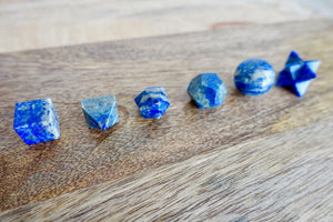 Lapis Lazuli Sacred Geometry 7 pcs Set-Sacred Geometry-Magic Crystals