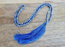 Load image into Gallery viewer, Blue Spot Jasper Stone Handmade Mala Necklace-Mala Necklaces-Magic Crystals