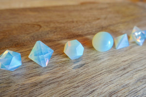 Opalite Sacred Geometry 7 pcs Set-Sacred Geometry-Magic Crystals