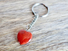 Load image into Gallery viewer, Red Jasper Stone Handmade Heart Keychain-Keychains-Magic Crystals