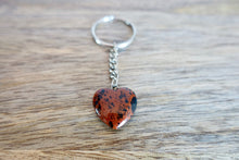 Load image into Gallery viewer, Mahogany Obsidian Stone Handmade Heart Keychain-Keychains-Magic Crystals