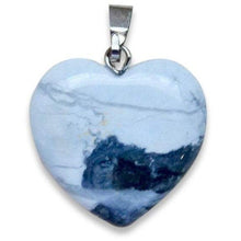 "Load image into Gallery viewer, Howlite Stone Heart Pendant-Heart Pendants-Magic CrystalsCheck out our white howlite necklace selection for the very best in unique, handmade pieces. Free Shipping available. Genuine howlite necklace and pendant. Howlite Pendant is calming because it encourages you to ""live and let live"", letting go of attachments. Howlite provide a deep, calm, peaceful strength."