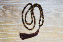 Load image into Gallery viewer, Yellow Tiger Eye Mala Necklace-Mala Necklaces-Magic Crystals
