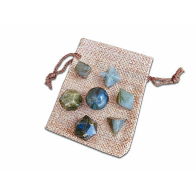 Labradorite Sacred Geometry 7 pcs Set-Sacred Geometry-Magic Crystals