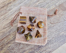 Load image into Gallery viewer, Yellow Tiger Eye Sacred Geometry 7 pcs Set-Sacred Geometry-Magic Crystals