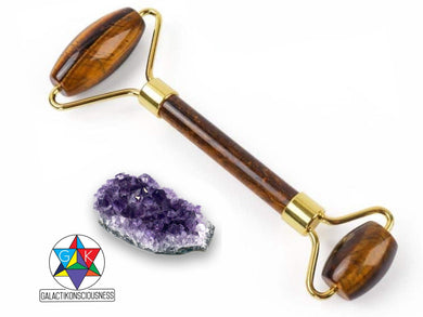 Magic Crystals | Tiger's Eye Facial Roller and Amethyst Cluster Bundle-Facial Rollers-Magic Crystals