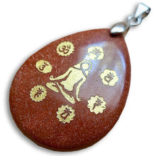 Load image into Gallery viewer, Goldstone Meditation Pendant-Pendants-Magic Crystals
