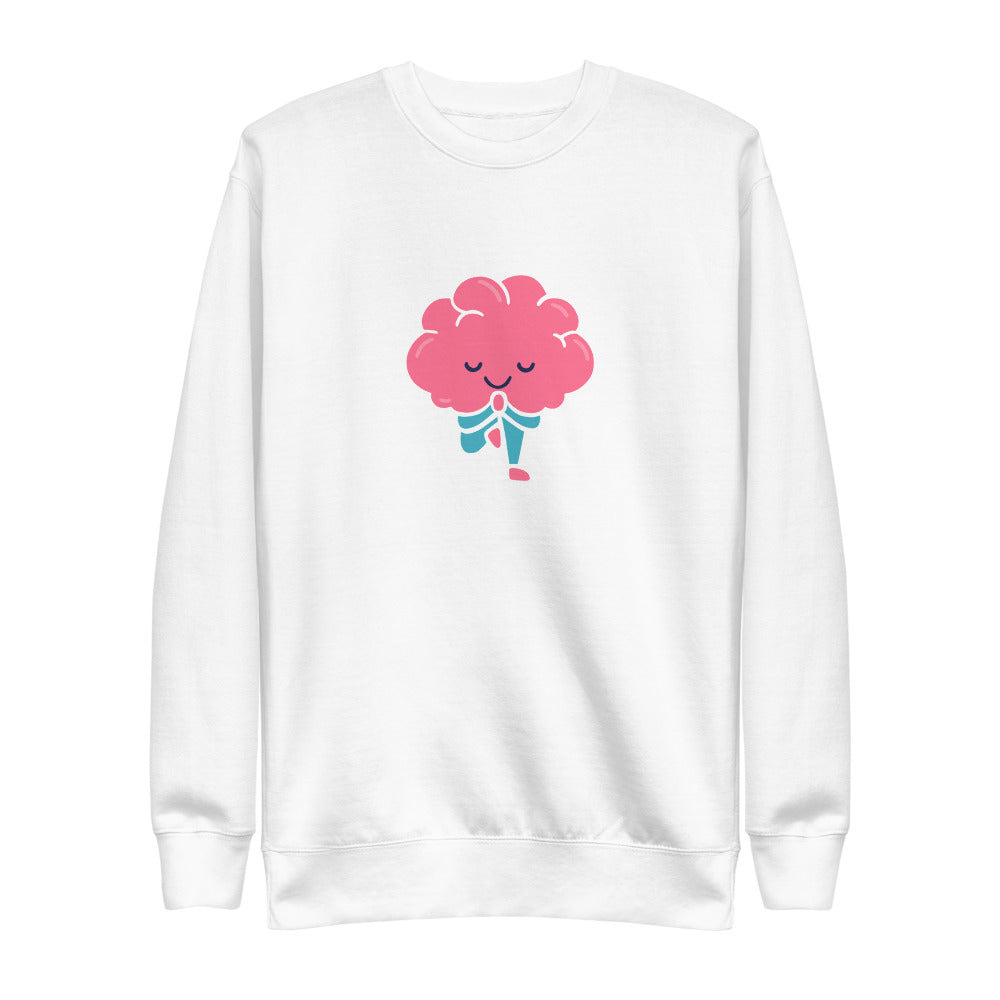 Unisex Fleece Pullover - Your Brain On Yoga - Tree