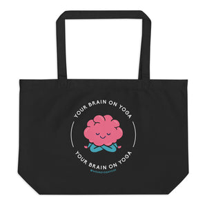 Black Tote - Your Brain On Yoga - Lotus