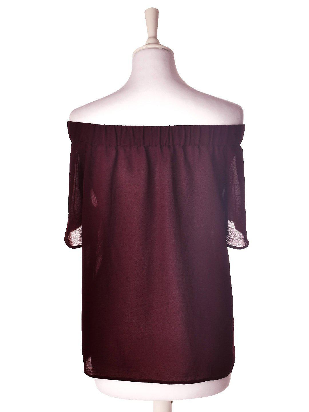 Bordeaux Off Shoulder Bluse fra Envii