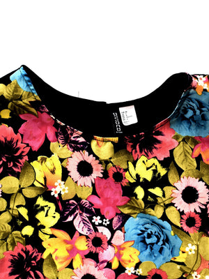 Cropped Blomstret Top