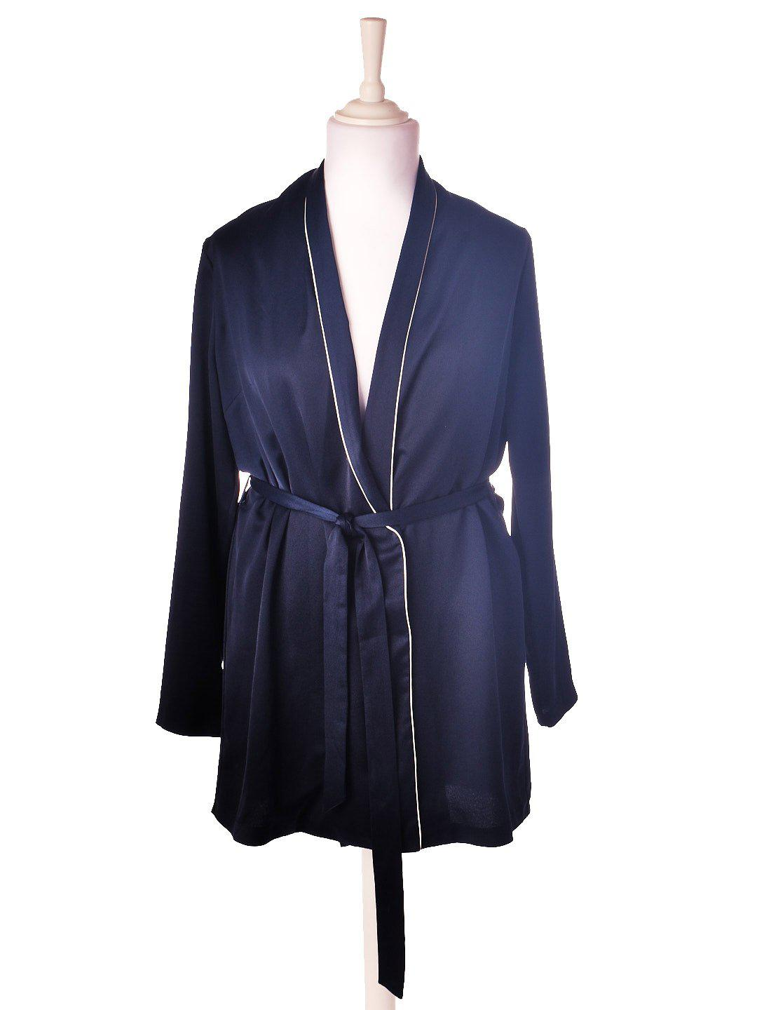 Oversized Satin Blazer fra MissGuided