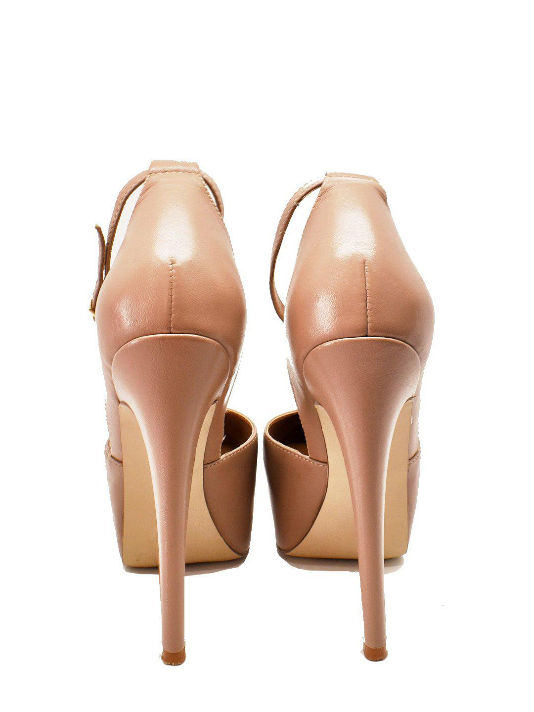 Nude Platform Pumps