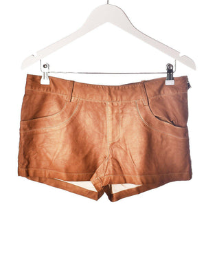 Faux Læder Shorts