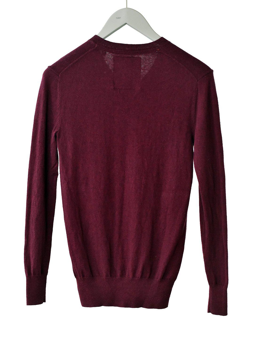 Bordeaux Sweater i Strik fra SuperDry